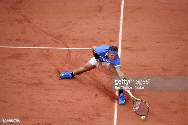 French Open Tennis Tournament Day Eleven Rafael Nadal of Spain in action against Pablo Carreno Busta of Spain in the Men's Singles Quarter Final...