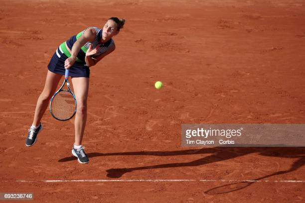 French Open Tennis Tournament Day Nine Karolina Pliskova of Czech Republic in action against Veronica Cepede Royg of Paraguay in the Women's Singles...