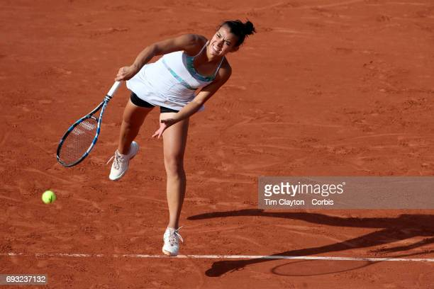 French Open Tennis Tournament Day Nine Veronica Cepede Royg of Paraguay in action against Karolina Pliskova of Czech Republic in the Women's Singles...