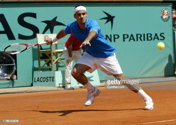 French Open top seed Roger Federer was upset by Gustavo Kuerten who entered the tournament seeded 28th in the third round 46 46 46
