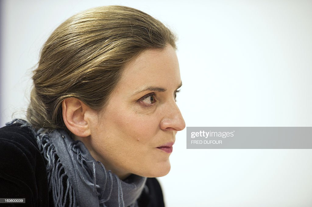 French opposition right-wing UMP party member and former French environment minister Nathalie Kosciusko-Morizet gives a press conference focused on education, on March 13, 2013 in Paris.