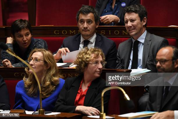 French Overseas Minister Annick Girardin French Justice Minister Nicole Belloubet French Minister of Public Action and Accounts Gerald Darmanin...