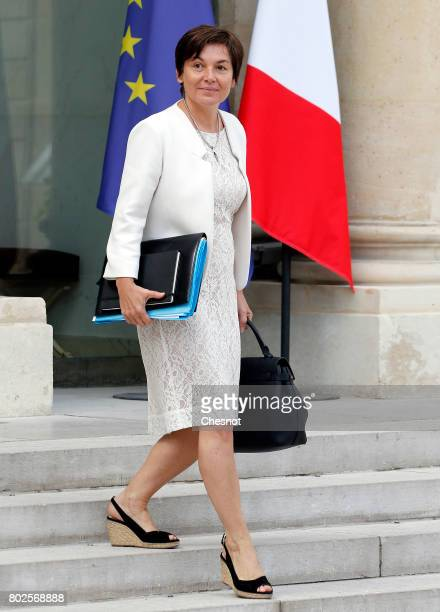 French Overseas Minister Annick Girardin leaves the Elysee Presidential Palace after a weekly cabinet meeting on june 28 2017 in Paris France On...