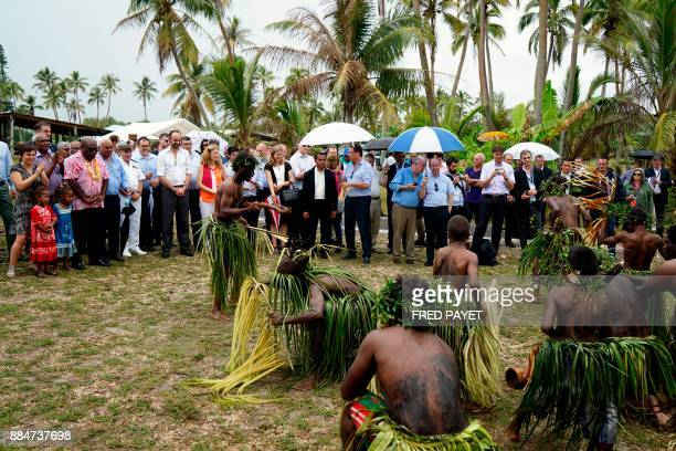 French Overseas Minister Annick Girardin President of the Loyalty Islands and mayor of Lifou Neko Hnepeune French Prime Minister Edouard Philippe...
