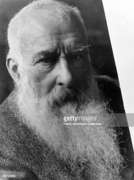 French painter Claude Monet one of the founders of the Impressionist style