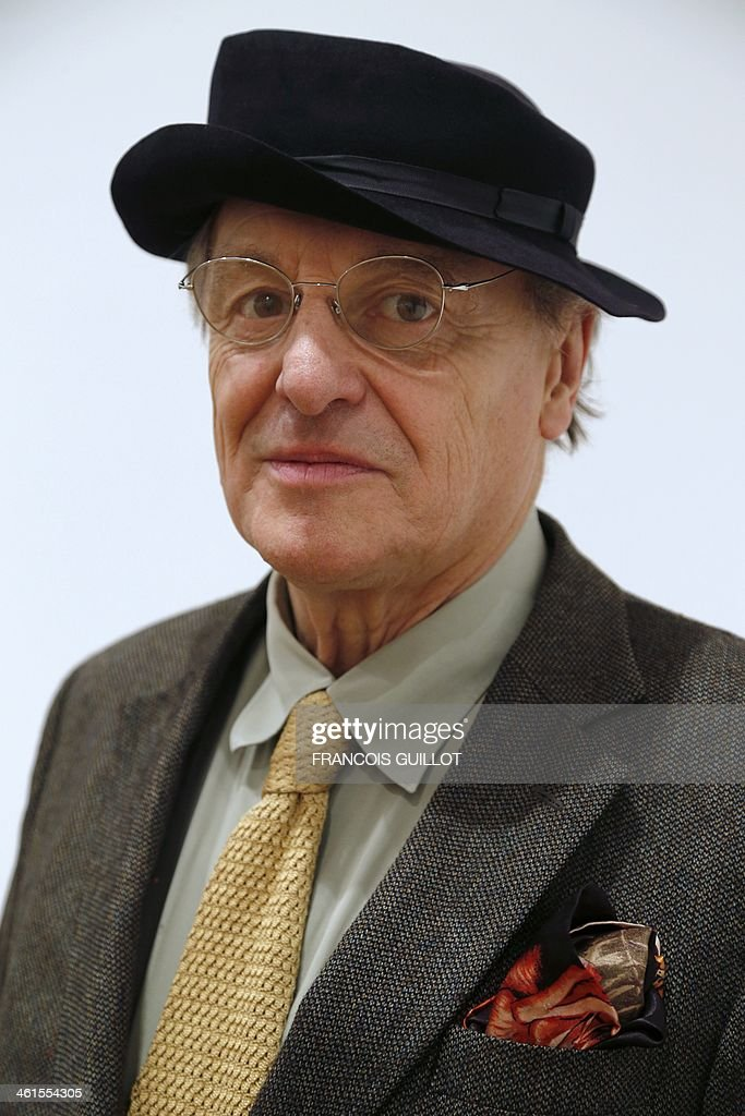 French painter Gerard Garouste poses on January 9, 2014 in Paris, prior to a new exhibition organized at the Templon Galerie from January 11 to February 26.