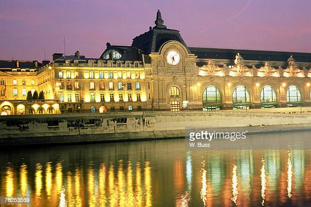French palace by river , Paris , France