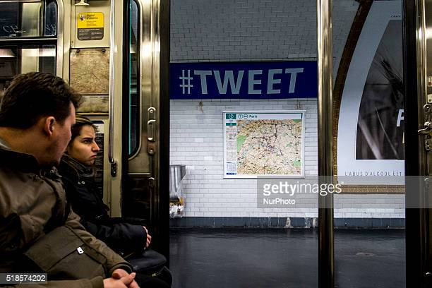 French Paris subway company changed the name of different station as a joke for the traditional first april in Paris France on 1st April 2016