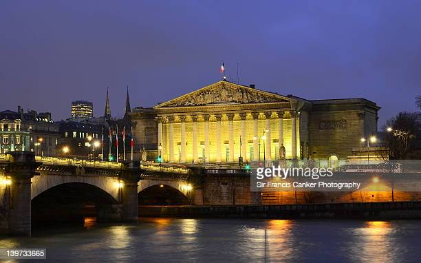 French Parliament with Concorde bridge