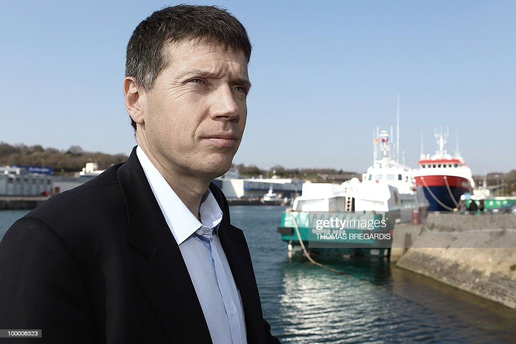 CLAUDE French Pascal Piriou, head of Piriou' shipyards poses in front of his company headquarters in Concarneau, western France, on April 16, 2010