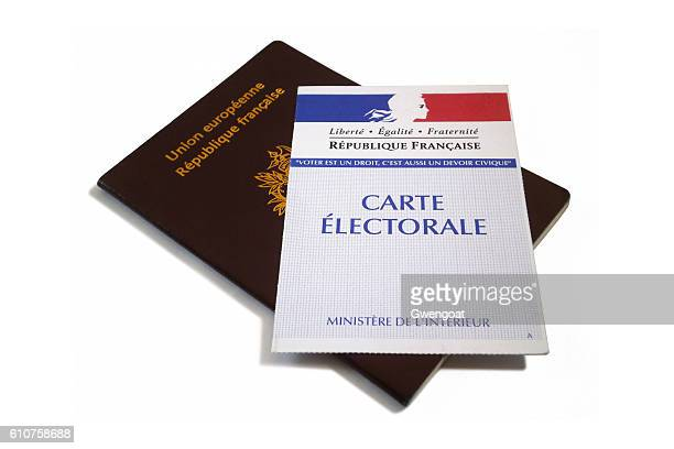 French passport and electoral voting card