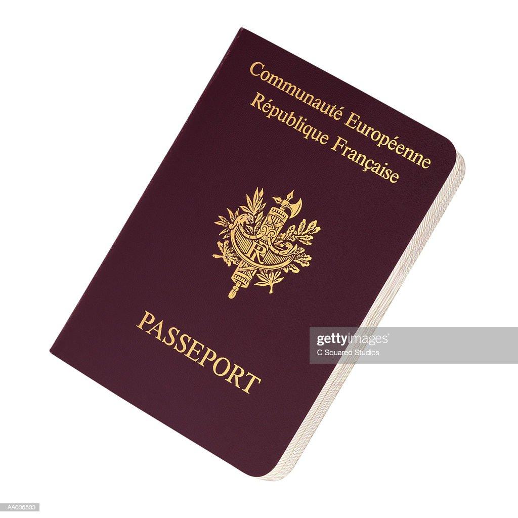 French Passport : Stock-Foto