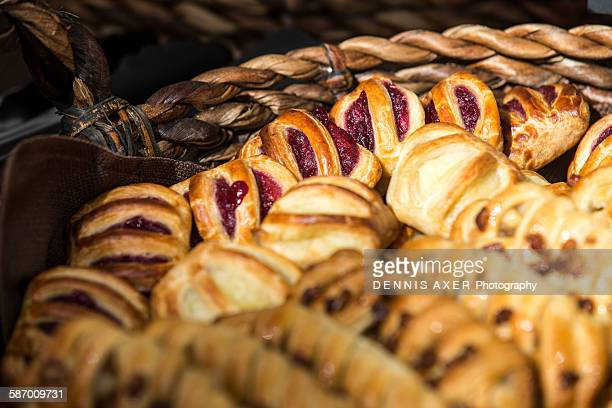 French Pastries in a basket
