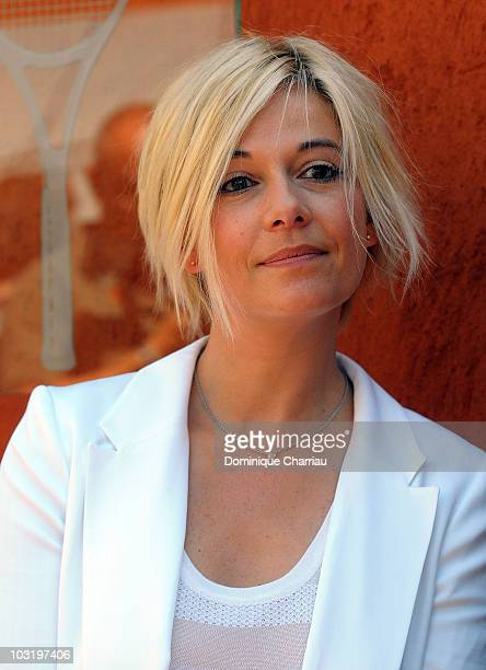 French Personality Flavie Flament at the French Open on June 3 2010 in Paris France