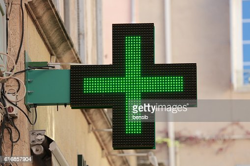 French Pharmacy Sign : Stock Photo