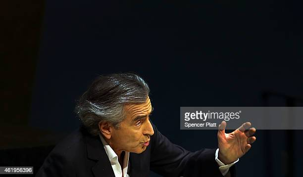 French philosopher and writer BernardHenri Levy speaks to the United Nations General Assembly at a meeting devoted to antiSemitism on January 22 2015...