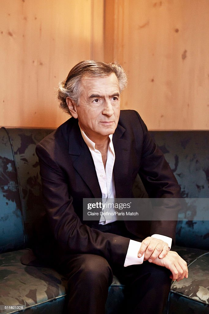 French philosopher Bernard-Henri Levy is photographed for Paris Match on February 9, 2016 in Paris, France.