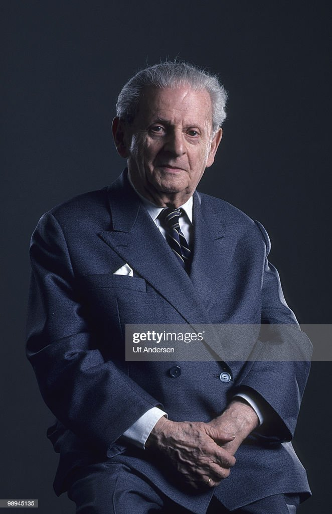 PARIS, FRANCE - MARCH 30. French philosopher Emmanuel Levinas poses at home during a portrait session on March 30,1993 in Paris,France.