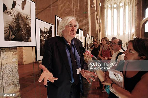 French photo agency Sipa's founder and photographer Goksin Sipahioglu answers to journalists' questions on September 5 2008 in Perpignan southern...