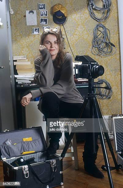 French photographer Bettina Rheims in her studio