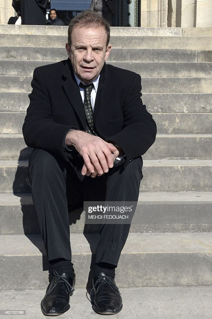 French photographer <a gi-track='captionPersonalityLinkClicked' href=/galleries/search?phrase=Francois-Marie+Banier&family=editorial&specificpeople=6583891 ng-click='$event.stopPropagation()'>Francois-Marie Banier</a> sits waiting in front of the Bordeaux courthouse February 3, 2015 for the 7th day of the trial of ten people charged with exploiting France's richest woman Liliane Bettencourt, L'Oreal heiress. Ten members of Bettencourt's entourage are accused of taking advantage of the 92-year-old billionaire's growing mental fragility in an explosive legal and political drama.