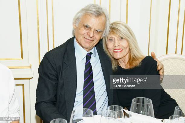 French Photographer Henri Tullio and his wife French Journalist Agathe Godard attend the Etam Dinner as part of the Paris Fashion Week Womenswear...