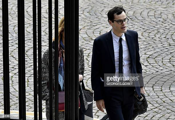 French photographer Martin d'Orgeval arrives at the courthouse of Bordeaux southwestern France on May 23 during his and three others' appeal trial...