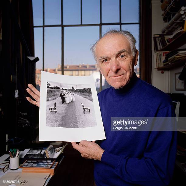 French photographer Robert Doisneau who took the famous City Hall Kiss picture with one of his photographs
