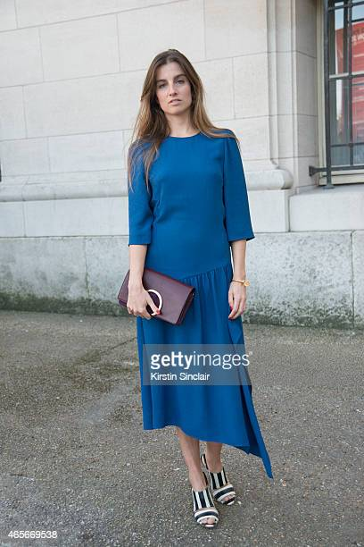 French photographer Sonia Sieff wears all Chloe at the Chloe show on day 6 of Paris Collections Women on March 08 2015 in Paris France