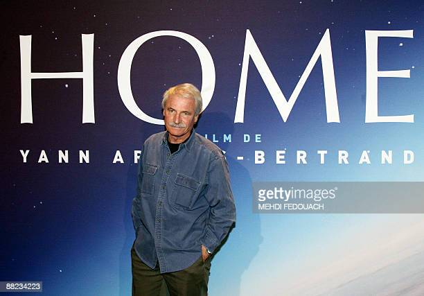 French photographer Yann ArthusBertrand poses on June 5 2009 in Paris prior to the screening of his movie 'Home' ArthusBertrand known for the 'Earth...