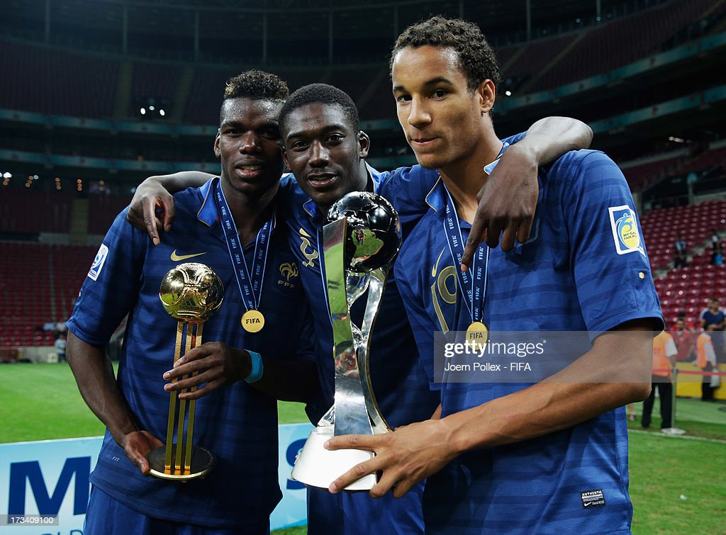 French players celebrate with the cup after winning the FIFA U-20 World Cup Final match between France and Uruguay at Ali Sami Yen Arena on July 13, 2013 in Istanbul, Turkey.