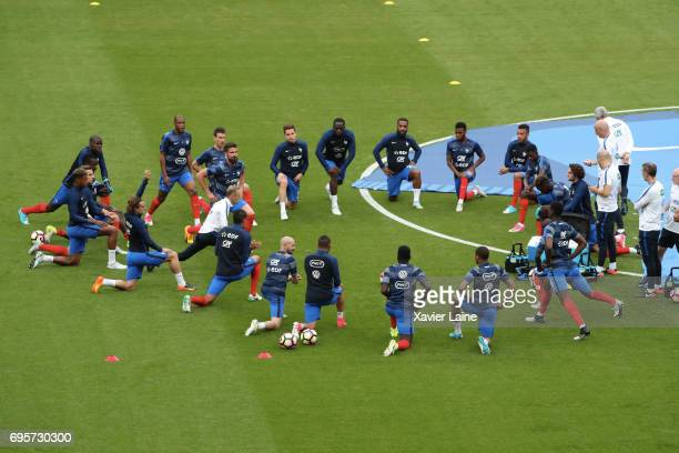 French players of France before the International Friendly match between France and England at Stade de France on June 13 2017 in Paris France
