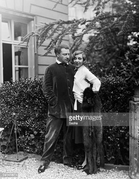 French playwright actor and director Sacha Guitry with his wife Yvonne Printemps 1929