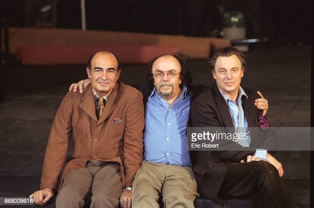 French playwright and director JeanMichel Ribes with actor Philippe Khorsand and painter Gérard Garouste