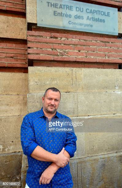 French playwright and newly appointed artistic director Christophe Ghristi poses at the Capitole Theatre in Toulouse on July 21 2017 / AFP PHOTO /...
