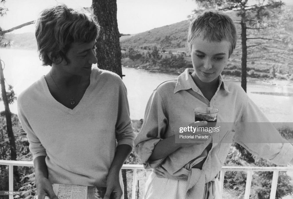 French playwright novelist and screenwriter Francoise Sagan with American actress Jean Seberg circa 1960 In 1958 Seberg starred in the film version...