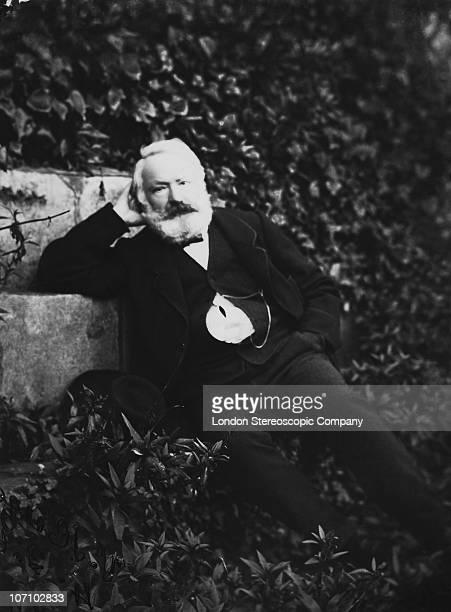 French poet playwright and novelist Victor Hugo circa 1870
