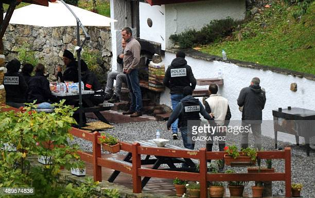 French police arrest suspected members of the Basque separatists group ETA at the Orerreka gite or holiday cottage between SaintEtiennedeBaigorry and...