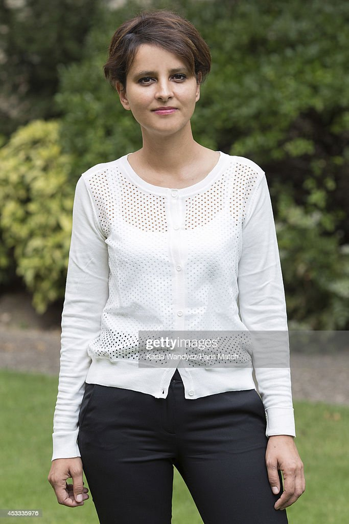French politician and Minister of Women's Rights, city, youth and sport, <a gi-track='captionPersonalityLinkClicked' href=/galleries/search?phrase=Najat+Vallaud-Belkacem&family=editorial&specificpeople=4115928 ng-click='$event.stopPropagation()'>Najat Vallaud-Belkacem</a> is photographed for Paris Match on August 1, 2014 in Paris, France.