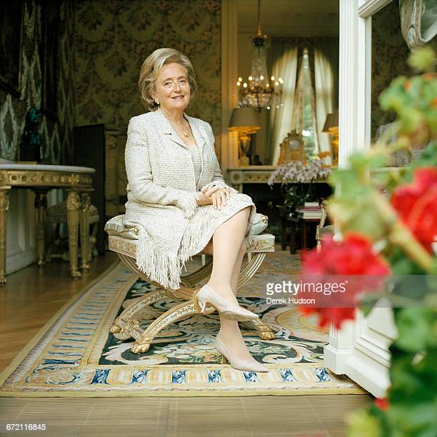 French politician Bernadette Chirac wife of President Jacques Chirac at the Elysée Palace Paris 15th July 2005