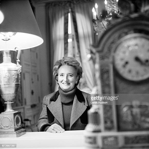 French politician Bernadette Chirac wife of President Jacques Chirac in a drawing room at the Elysée Palace Paris 1999