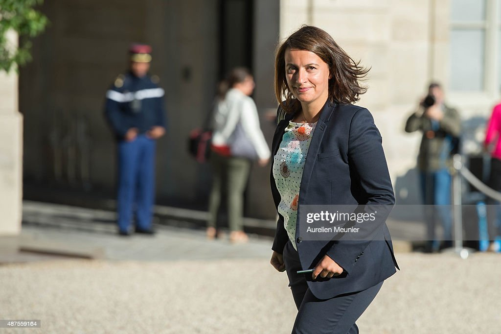 French politician, <a gi-track='captionPersonalityLinkClicked' href=/galleries/search?phrase=Cecile+Duflot&family=editorial&specificpeople=4057002 ng-click='$event.stopPropagation()'>Cecile Duflot</a> arrives to the Conference prior the World Climate Summit at Elysee Palace on September 10, 2015 in Paris, France. The COP 21 will be held in Paris From Nov 30 to Dec 11, 2015 and will involve around 40,000 personnes with a representant of every countries to discuss climate changes. This will be the biggest Diplomatic event ever organised by France.