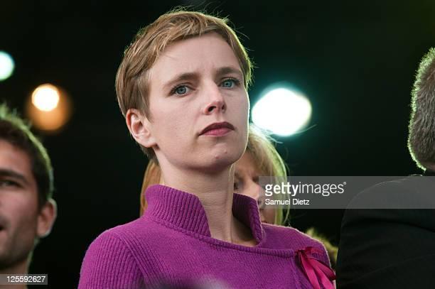 French Politician Clementine Autin attends day 3 of La Fete de l'Humanite on September 18 2011 at La Courneuve France La Fete de l'Humanite is a...