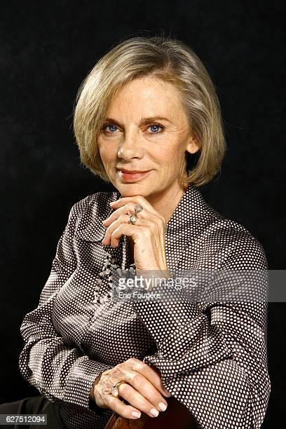 French politician Elisabeth Guigou on the set of TV show 'Tout le Monde Deguste'