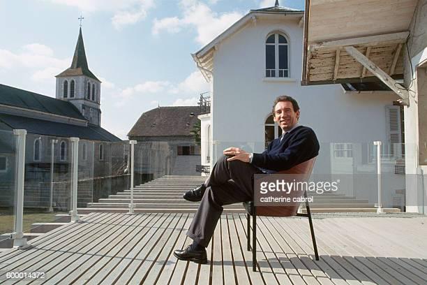 French politician Francois Bayrou in his region, Bearn.