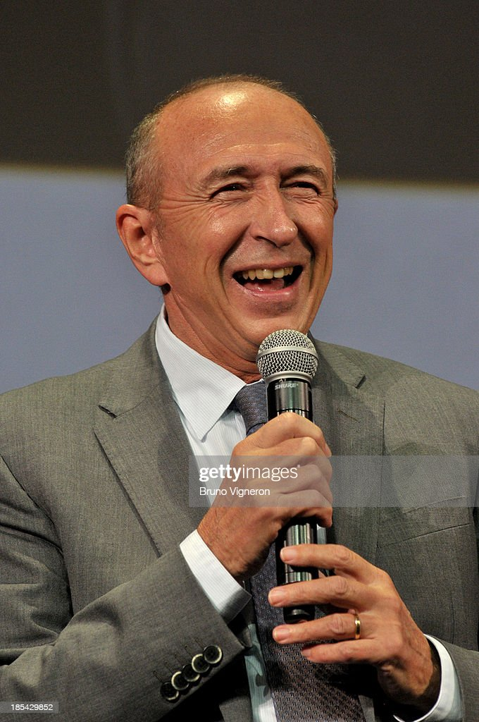French politician <a gi-track='captionPersonalityLinkClicked' href=/galleries/search?phrase=Gerard+Collomb&family=editorial&specificpeople=672969 ng-click='$event.stopPropagation()'>Gerard Collomb</a> attends the closing ceremony of 'Lumiere 2013, Grand Lyon Film Festival' on October 20, 2013 in Lyon, France.