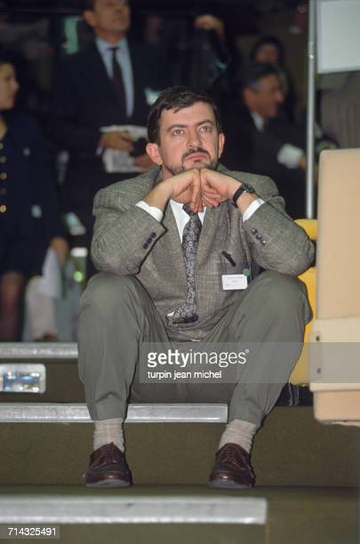 French politician JeanLuc Mélenchon at a Parliamentary day of the Socialist Party in Nantes France 27th September 1990