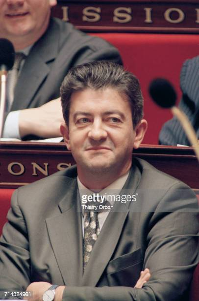 French politician JeanLuc Mélenchon listening to questions to the Government in a session of the French National Assembly Paris 25th April 2000