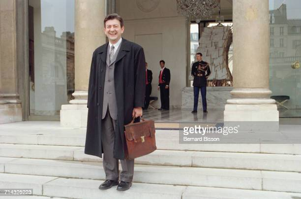 French politician JeanLuc Mélenchon minister of professional teaching leaves the Elysée Palaces after attending a Council of ministers Paris 29th...