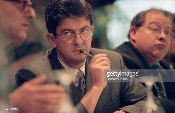 French politician JeanLuc Mélenchon minister of professional training visits the Renée Auffray hotel school in Clichy 28th April 2000